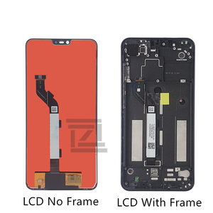 Image 2 - Xiaomi Mi 8 Lite LCD 디스플레이 터치 스크린 디지타이저 어셈블리 Mi 8 lite 수리 부품 용 프레임 디스플레이