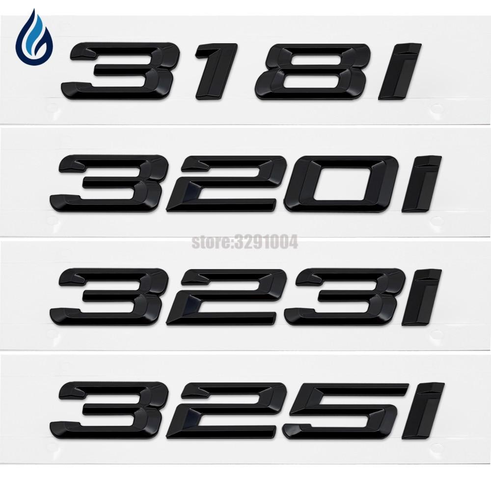 Matte Black Letter Trunk Lid Rear Emblem Badge Letters 325Ci for BMW E46 Coupe