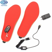 Adjustable Temperature Electric Heated Shoe Insoles Feet Warmer Heater Heating Foot Pads Warm Partner Feet L