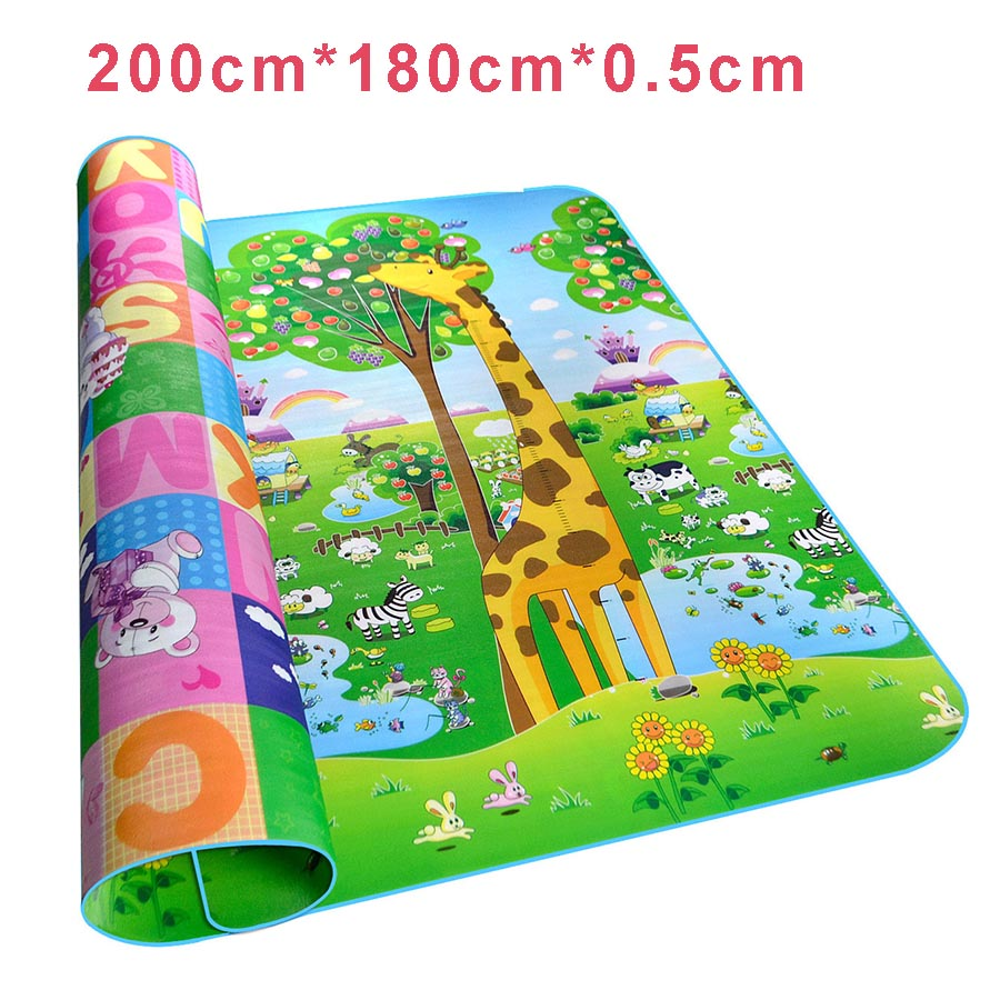 Children's Floor Rugs Us 14 92 38 Off Child Large Play Mats Crawling Mat Floor Blanket Children Carpet Infant Rug Mats For Kids Baby Playmat Children Room Carpet Bebe In