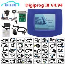 الأفضل مبيعًا جهاز تصحيح الأميال الاحترافي digibru3 V4.94 يدعم العديد من العلامات التجارية لسيارات Digiprog III متعدد اللغات Digiprog 3