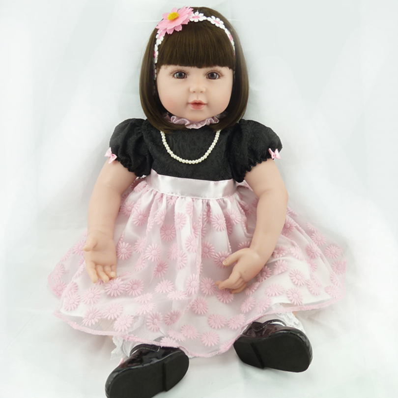 2016 Fashion Doll Reborn Cotton Body Baby Alive Lovely Princess Doll Toy Gift For New Year Christmas Brinquedos Silicone Babies цена 2017
