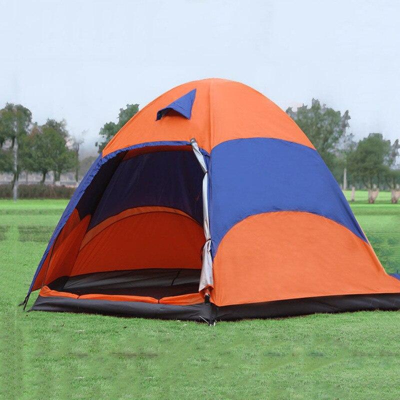 3 5 Person Mongolian Yurt Tent Double Layer Waterproof Folding Camping Fishing Tent Mosquito Net Family