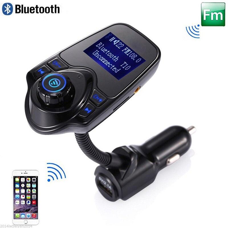 Prix pour Voiture mp3 audio lecteur bluetooth fm transmetteur sans fil modulateur fm de voiture kit mains libres écran lcd usb chargeur pour iphone samsung