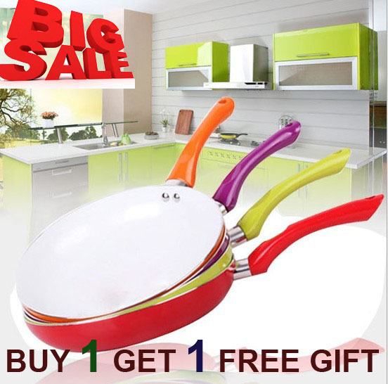 """BUY 1 GET 1 FREE GIFT ""CONCORD Eco Healthy Ceramic Nonstick Fry Pan 26CM Free Shipping FDA,LFGB,DGCCRF,SVHC Certificate"