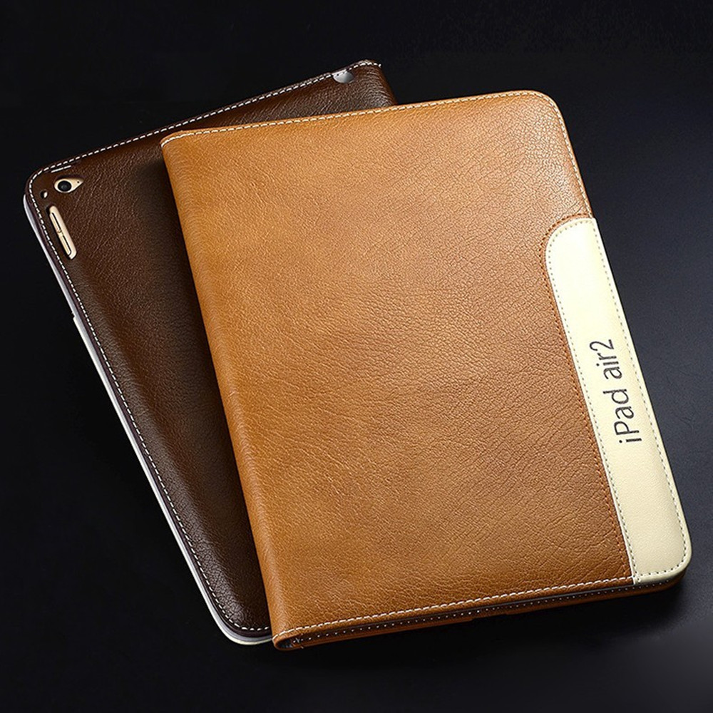 Luxury Ultra Slim Business Style Automatic Wake up Sleep Smart Leather Case For iPad Air 2
