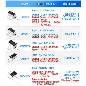 Image 3 - Rocketek ค่าเร็ว 3.0 สมาร์ท USB Type C สถานีชาร์จ USB จอแสดงผล LED ชาร์จอย่างรวดเร็วโทรศัพท์แท็บเล็ตสำหรับ iPhone ซัมซุงอะแดปเตอร์