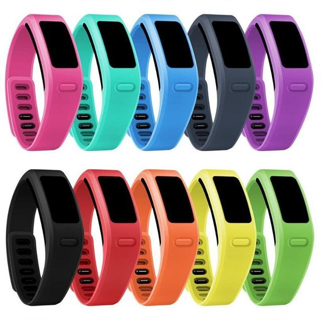Mllse 500pcs Band Replacement For Garmin Vivofit Silicone Wristband Fitness Bracelet Tracker Size L S