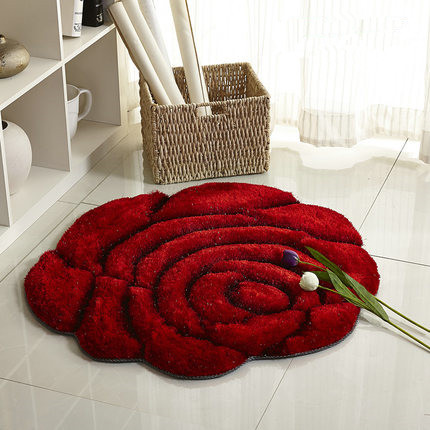 3D stereo roses carpet Living room coffee table mat Sofa bed bedroom floor mats European fashion