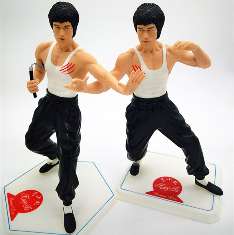 NEW hot 28cm Bruce Lee collectors action figure toys Christmas gift no box famous world kongfu superstar bruce lee action figure 35cm kong fu master bruce lee pvc figure toy