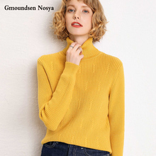2019new sweater women turtleneck Cashmere Thicken pullover  knitted fashion sweaters winter clothes