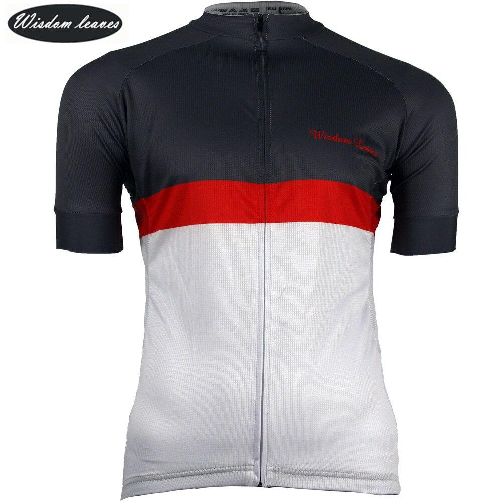 Sabiduría hojas 2017 mujeres deporte ciclismo camiseta jersey bicicleta camisa hombres maillot ciclismo equipos equipo bicicleta ropa