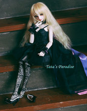 black  wedding dress  For BJD 1/3 girl /SDGR girl 16/ DD  Doll Clothes Accessories