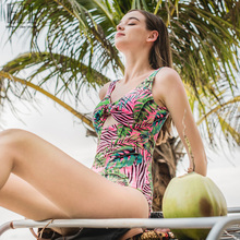 Julysand Sexy Floral Backless Swimsuit  ne Piece Female Wide Strap Beach Wear 19W162
