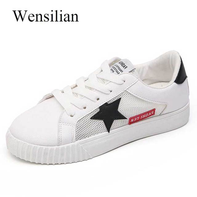 innovative design 2f919 c6dae Designer Sneakers Women Casual Shoes Star Breathable Vulcanize Shoes Fenty  Beauty Platform Sneakers Plus Size Zapatos De Mujer-in Women's Vulcanize ...