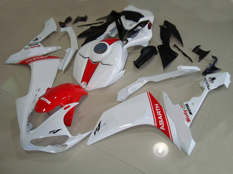 New Injection mold <font><b>Fairing</b></font> kit 100% fit for <font><b>YAMAHA</b></font> YZFR1 07 08 YZF <font><b>R1</b></font> <font><b>2007</b></font> 2008 YZF1000 ABS <font><b>Fairings</b></font>+Tank cover custom red white image
