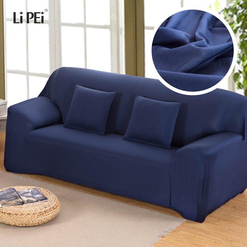 hussen fur sofa blau, einfarbig elastische stretch sofa abdeckung universal hussen für, Design ideen