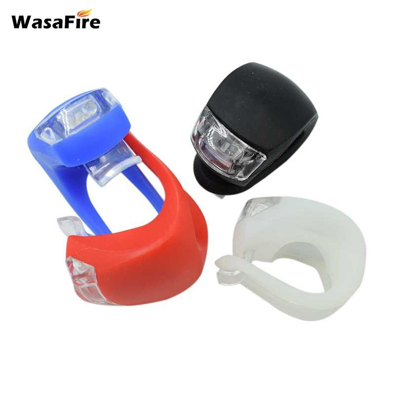 WasaFire Mini LED Bike Light Silicone Bicycle Light Head Front Rear Wheel Flash Waterproof Cycling Warning Taillight Taillamps
