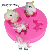 Unicorn horse Silicone Mold chocolate Fondant Cake Decorating Tools Soap dessert decorators moulds DY0006