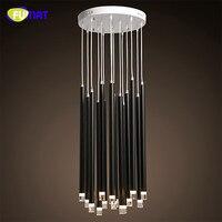Фумат Nordic современный светодиодный потолочный светильник для высокий потолок светильники Освещение в помещении металла длинный цилиндр п