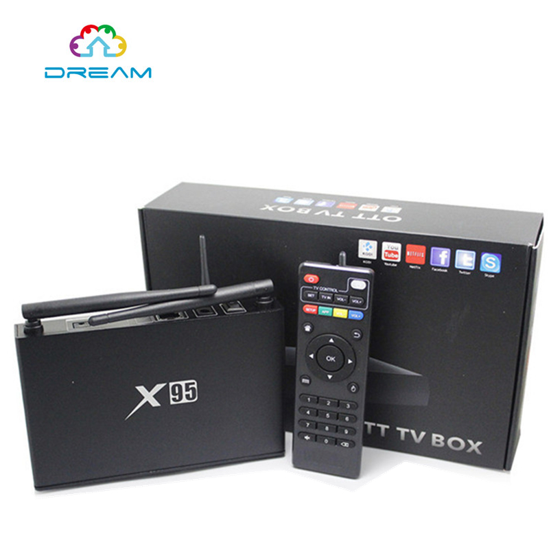 2017 X95 Amlogic S905 2G 8G Quad Core android 5 1 TV Box support wifi 4K