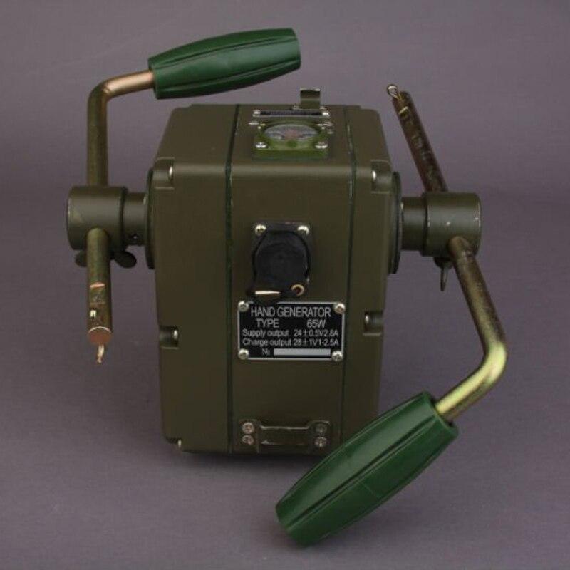 High Efficiency Dynamo Hand Crank Generator Emergency Outdoor Phone charger 65W
