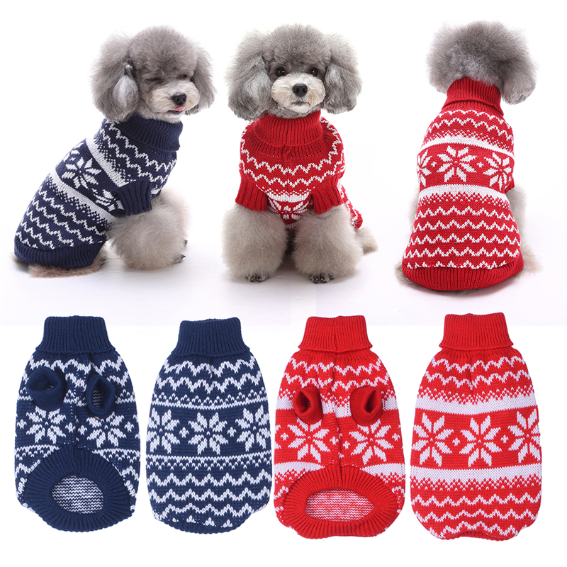 Φ_ΦFashion Pet Dog Cat Warm Clothes Dog Christmas Sweaters Snow ...
