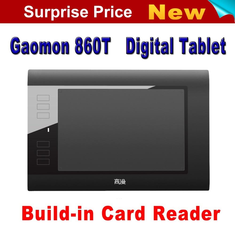 Promosyon Yeni Gaomon 860 T Dijital Tablet Grafik Çizim Kalem Dijital Kalem Ile Tablet 64 GB TF Kartı Uzatmak siyah