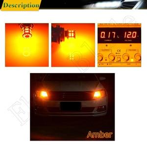 Image 5 - 2 قطعة ضوء النهار الجري S25 1156 BA15S P21W 3014 36 SMD السيارات LED العنبر البرتقالي الأصفر بدوره إشارة لمبة مصباح سيارة التصميم 12 فولت تيار مستمر