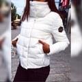 2016 Новый Осень Зима Gacket Женщины Пальто Мода Женский Пуховик Женщин Парки Повседневная Куртки Inverno Парка Ватные Плюс M-XXL