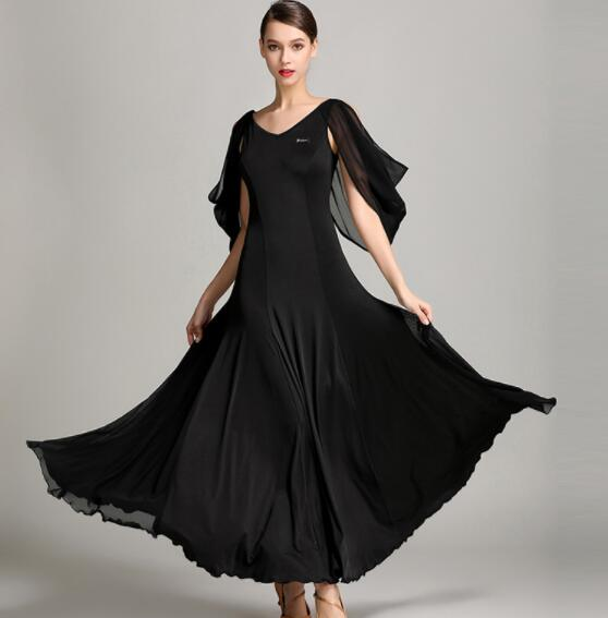 Ballroom Dance Dresses Lady s sleeveless Black Tango Waltz dress S9020 Women Ballroom Dance Competition Dress
