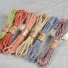 10m 5m mesh hollow natural jute twine rope string cord diy craft burlap scrapbook 100 Meters Natural Jute Twine Burlap String Hemp Rope Party Wedding Gift Wrapping Cords Thread Florists DIY Craft Decor