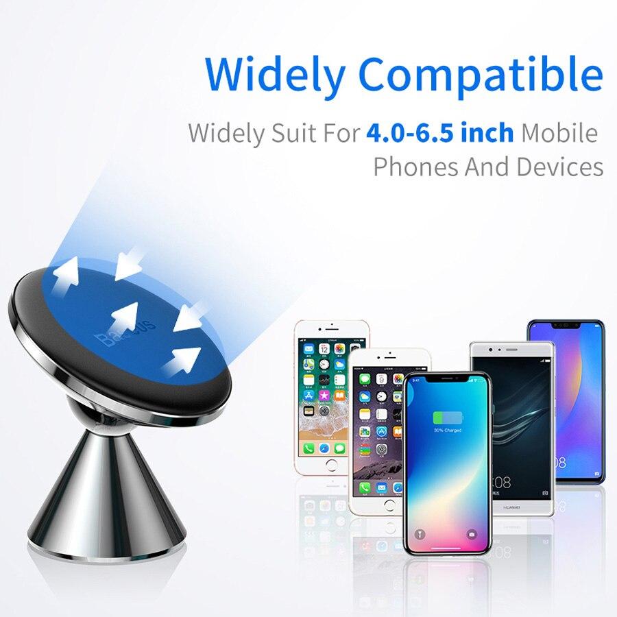 Image 5 - Soporte magnético de teléfono de coche Baseus para iPhone 11 soporte de ventilación de aire para teléfono móvil para Huawei Xiaomi soporte de coche-in Soportes y atriles de teléfono móvil from Teléfonos celulares y telecomunicaciones on AliExpress