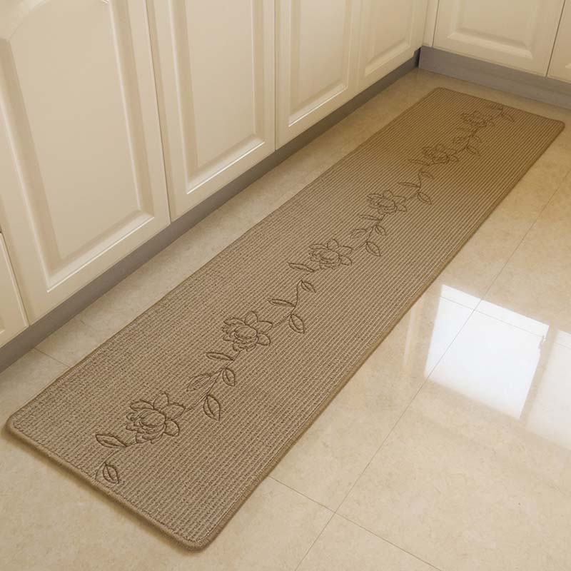 Washable Area Rugs Living Room: Durable Hand Embroidery Bedroom Floor Mat Anti Slip Long