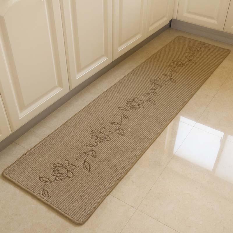 Durable Hand Embroidery Bedroom Floor Mat Anti Slip Long