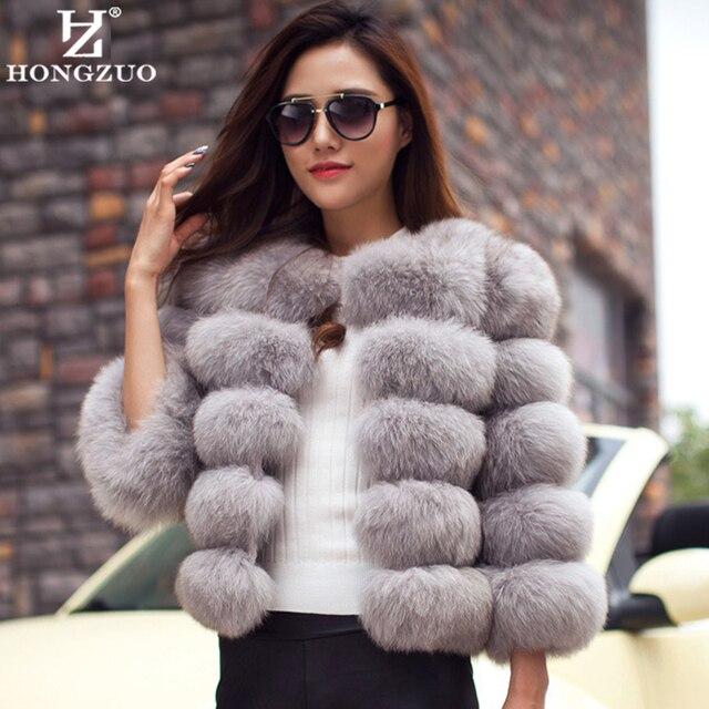 Новое Прибытие 2016 Женская Мода Мех Пальто Высокого Качества Искусственного Лиса Лоскутное Мех Короткое Пальто Женщин Зима Теплая Куртка Парка PC148