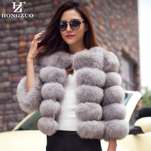 New Arrival 2016 Fashion Women Fur Coat High-Quality Faux Fox Patchwork Fur Short Coat Female Winter Warm Jacket Parka PC148