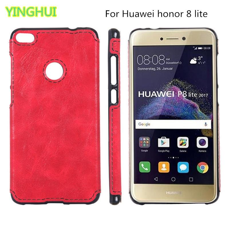 Noua carcasă moale TPU pentru Huawei honor 8 lite Husa Cortical sens - Accesorii și piese pentru telefoane mobile