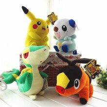 4pcs Lot Pokemon plush toy pikachu Oshawott Snivy Tepig 10 Collectibles Doll Toys Free shipping