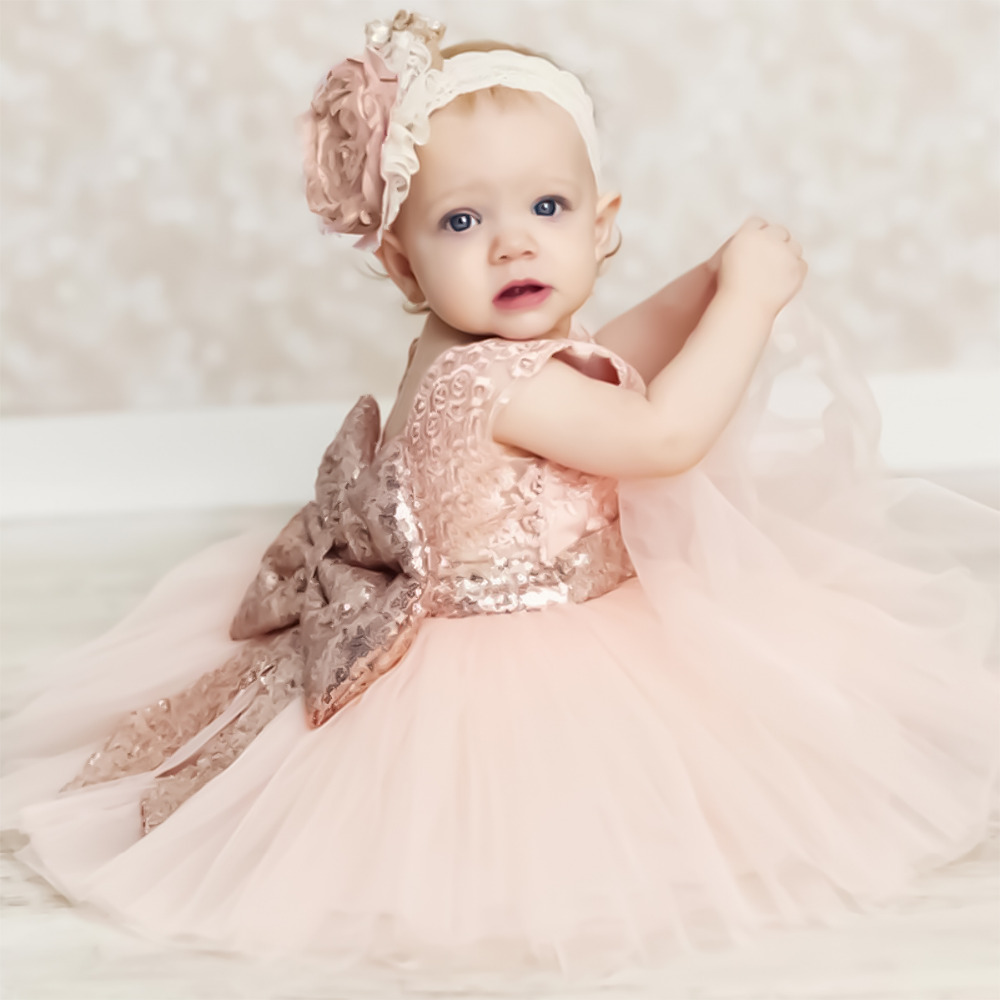 Aliexpress buy elegant baby dresses kids girls sequins big aliexpress buy elegant baby dresses kids girls sequins big bowknot lace ball gown kid girl bridesmaid formal dresses tulle princess party dress from ombrellifo Gallery