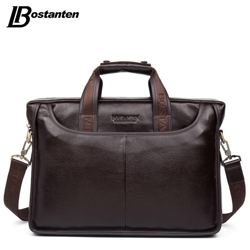 Bostanten 2017, Новая мода из натуральной кожи Для мужчин сумка известного бренда сумка Курьерские сумки Повседневная сумка для ноутбука Портфели...