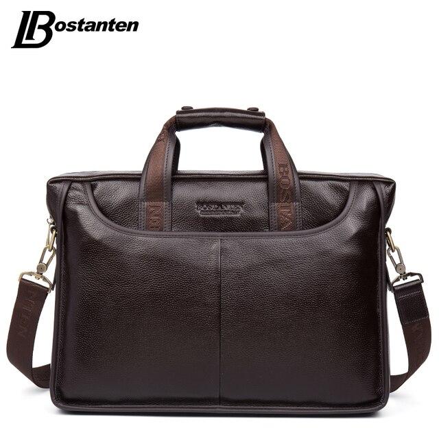 Bostanten 2017, Новая мода Пояса из натуральной кожи Для мужчин сумка известного бренда сумка Курьерские сумки повседневные сумки ноутбук Портфели мужской