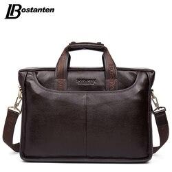Bostanten 2019 Neue Mode Aus Echtem Leder Männer Tasche Berühmte Marke Schulter Tasche Messenger Bags Handtasche Kausal Laptop Aktentasche Männlichen