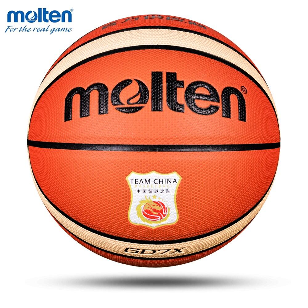 2019 balle de basket-Ball Molten GD7X taille officielle 7 PU matériel extérieur intérieur Match formation basket-Ball gonflable basket-Ball topu