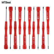 10Pcs/Set Magnetic Screwdriver Set Torx Pentalobe T-Type Phillips Flatted for Samsung Huawei Mobile Phone Tablet PC Repair Tool(China)