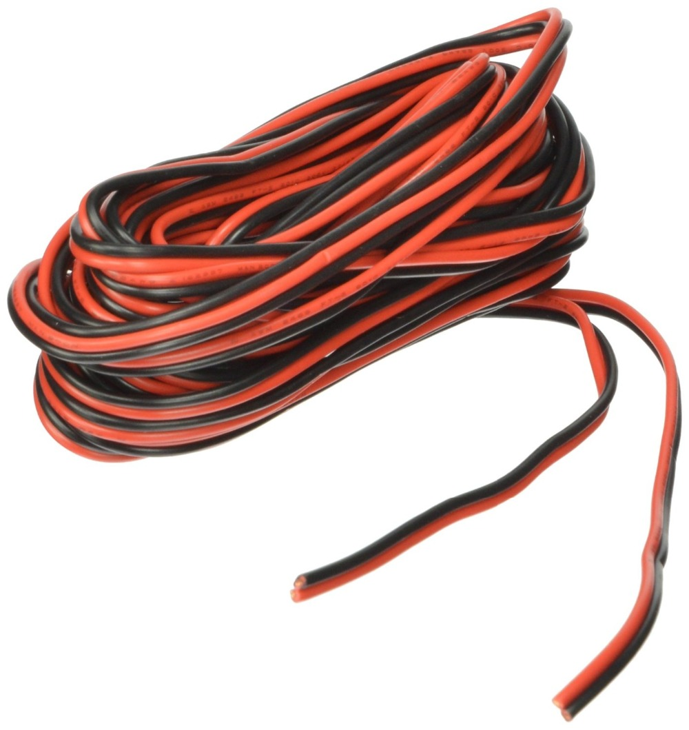 hight resolution of 20ga 25 10m red black hookup wire 12v 24v dc extension 2 pin cable