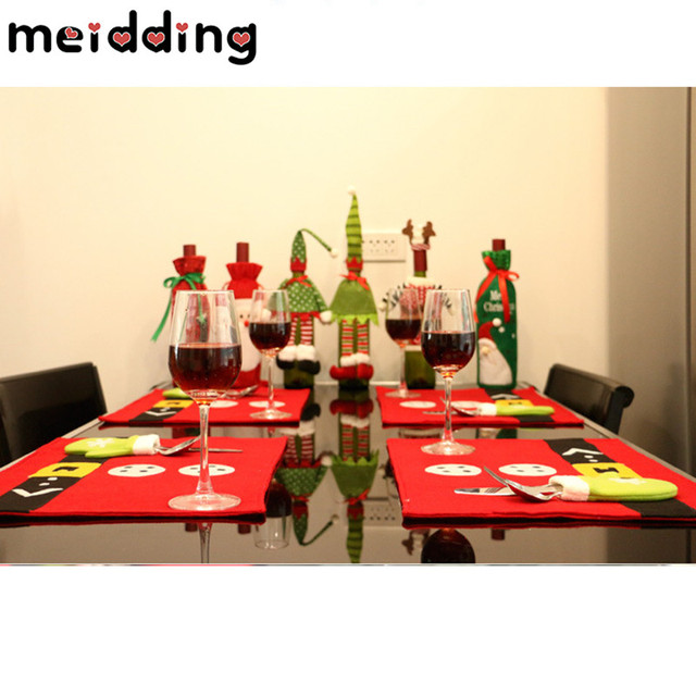 MEIDDING Christmas Table Set Tablewear Red Wine Beer Sweater Chair Cloth Decor Dinner Table New Year  sc 1 st  AliExpress.com & MEIDDING Christmas Table Set Tablewear Red Wine Beer Sweater Chair ...