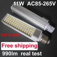 מחיר קידום הוביל צינורות נורות 11 w 5050 SMD E27 הוביל תאורת הנורה מנורת 220 V 60 נוריות 60smd ROHSreplace CE 34 W CFL