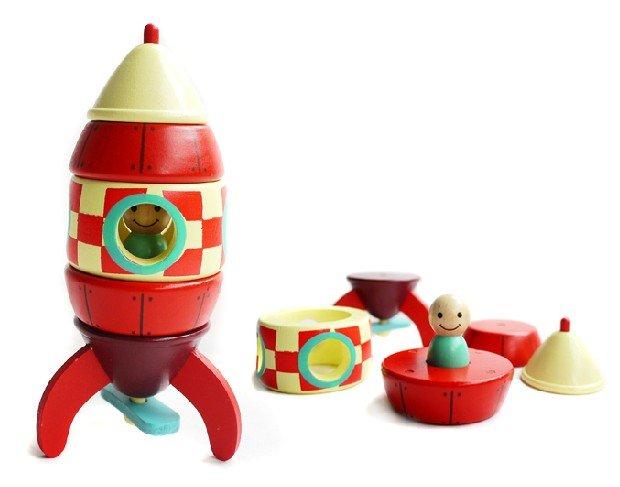 DIY 3D Puzzles Magnetic &Wooden Rocket Ship Toys Best