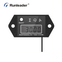 HM026C Waterproof Digital Inductive Tachometer LCD Hour Meter for All Gasoline Engine ATV UTV Dirtbike Outboar Chainsaw Outboard